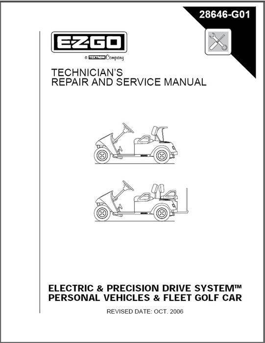 E-z-go - Ez Go Service Manual Elec 01-10 Part   28646g01