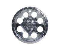 "EZ-GO Parts - 10"" CHROME E-Z-GO WHEEL COVER with RALLY Logo"