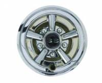 "Nivel - 8"" Chrome Painted Wheel Cover with SS Logo"