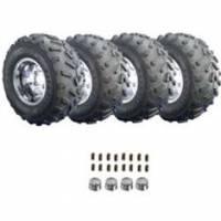 "EZ-GO Parts - 22"" Pathfinder Tire with 10"" Polished Aluminum Wheel (Pkg of 4)"